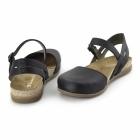 El Naturalista NF41 Ladies Leather Halterback Sandals Black