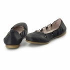 El Naturalista N961 Ladies Leather Flat Shoes Antique Black