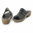 El Naturalista NC91 Ladies Leather Clog Sandals Black
