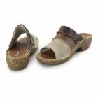 El Naturalista NC91 Ladies Leather Clog Sandals Piedra/Mix