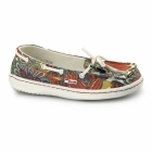 Hey Dude MOKA FUNK Ladies Deck Shoes White Peacock