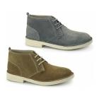 Kickers LEGENDARY Mens Suede Desert Boots Grey/Nat