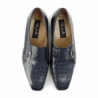 Paco Milan TEXAS Mens Ostrich Leather Cuban Heel Shoes America