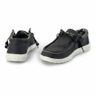 Hey Dude WALLY STRETCH Mens Wide Fit Shoes Black