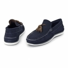 Chatham AMBICA Mens Suede Leather Loafers Navy
