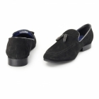 Red Tape APSLEY Mens Suede Leather Tassel Loafers Black