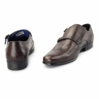 Red Tape TEMPO Mens Double Monk Brogue Shoes Bordo
