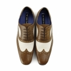 Red Tape GATSBY Mens Leather Brogues Tan/White