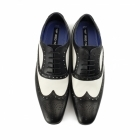 Red Tape GATSBY Mens Leather Brogues Black/White