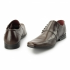Red Tape CHERWELL 2 Mens Leather Side Lace Shoes Brown