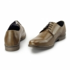 Red Tape SHANNON Mens Leather Derby Shoes Tan