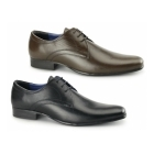 Red Tape LEVEN Mens Leather Formal Derby Shoes Brown