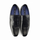 Red Tape DERRY Mens Plain Leather Slip-On Shoes Black