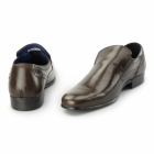 Red Tape DERRY Mens Plain Leather Slip-On Shoes Brown