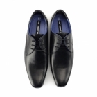Red Tape LEVEN Mens Leather Formal Derby Shoes Black
