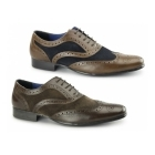 Red Tape CARN Mens Leather/Suede Smart Brogues Tan/Navy