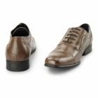 Azor PADOVA Mens Leather Oxford Shoes Tan