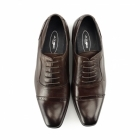 Azor PADOVA Mens Leather Oxford Shoes Brown