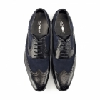 Azor MILLER Mens Leather Oxford Brogues Black/Blue
