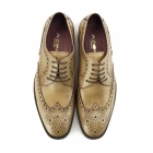Azor LUGANO Mens Leather Derby Brogues Tan