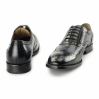 Azor CRESTO Mens Leather Oxford Brogues Black/Navy