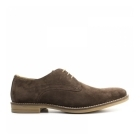 Base London BAYHAM Mens Suede Leather Derby Shoes Brown