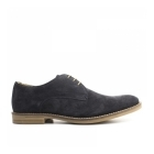 Base London BAYHAM Mens Suede Leather Derby Shoes Navy