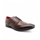 Base London ORWELL Mens Burnished Leather Derby Shoes Cocoa