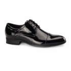 Roberto Giovanni CHARLES 2 Mens Patent Leather Derby Shoes Black
