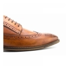 Base London DURHAM Mens Washed Leather Derby Brogues Tan