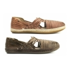 Base London GLASTO WEAVE Mens Leather Woven Sandals Brown