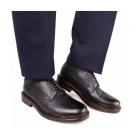 Base London MAUDSLAY Mens Grain Leather Derby Shoes Navy