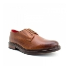 Base London MAUDSLAY Mens Grain Leather Derby Shoes Tan