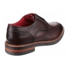 Base London BROOKSBY Mens Leather Derby Shoes Brown