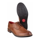 Base London BROOKSBY Mens Leather Derby Shoes Tan