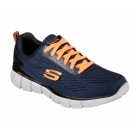 Skechers EQUALIZER - SETTLE THE SCORE Mens Trainers Navy/Orange