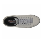 Skechers ARCADE CHAT MEMORY Mens Canvas Lace Up Shoes Grey