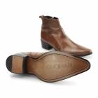 Gucinari RAVELLO Mens Leather Cuban Heel Ankle Boots Tan