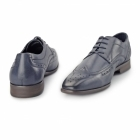 Azor CATANIA Mens Leather Derby Brogues Blue