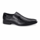 Azor VICENZA Mens Leather Slip On Brogues Black