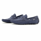 Front EMERSON Mens Nubuck Penny Driving Loafers Navy
