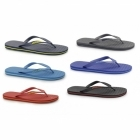 Jack & Jones JJBASIC Mens Toe Post Flip Flops Anthracite