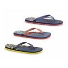 Jack & Jones JJSPLIT Mens Rubber Toe Post Flip Flops Deep Cobalt