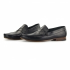 Gucinari NUMANA Mens Leather Penny Loafers Black