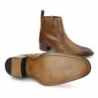Gucinari ATRANI Mens Leather Side Zip Ankle Boots Tan