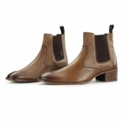 Gucinari LUCCA Mens Leather Chelsea Boots Tan