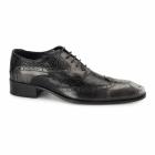 Gucinari MANAROLA Mens Leather Oxford Brogues Black/Grey