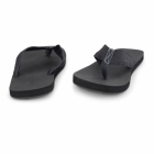Jack & Jones JJTYBONE Mens Leather Toe Post Flip Flops Anthracite