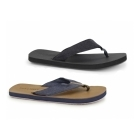 Jack & Jones JJTYBONE Mens Leather Toe Post Flip Flops Friar Brown