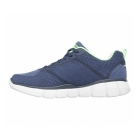 Skechers EQUALIZER 2.0 - TRUE BALANCE Mens Trainers Navy/Lime